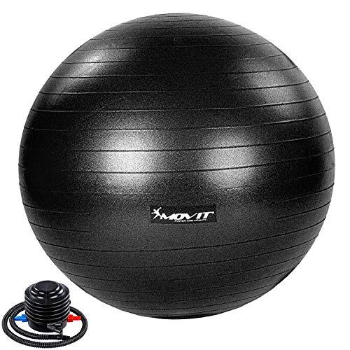 Movit® Gymnastikball »Dynamic Ball« inkl. Pumpe, 65 cm, schwarz, Maximalbelastbarkeit bis 500kg, berstsicher, Fitness-Ball, Sitzball, Yogaball, Pilates-Ball, Balance