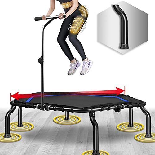 Happy Jump Indoor Trampolin Fitness Trampolin Mini Trampoline für Kinder klappbar (Königsblau)
