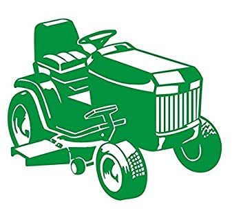 Riding Lawn Mower Decal Sticker - Peel and Stick Sticker Graphic - - Auto Wall Laptop Cell Truck Sticker for Windows Cars Trucks