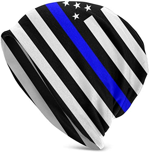 Thin Blue Line Blue Lives Matter Flag.PNG Gorro de Verano para Hombres y Mujeres - Slouchy Lightweight Chemo Cotton Fashion Hat