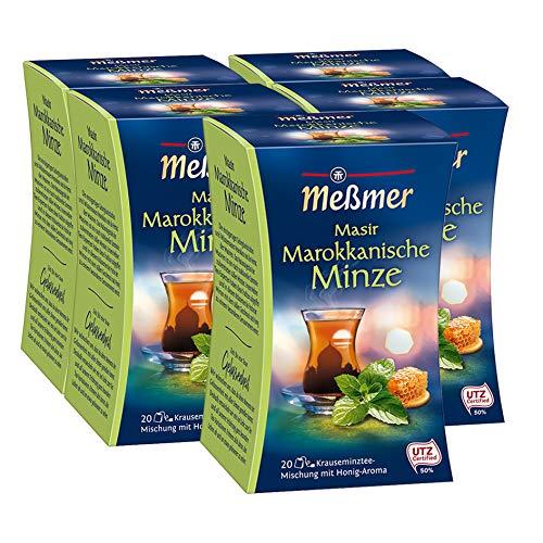 Meßmer Marokkanischer Masir, Minze-Honig 20 Teebeutel, 5er Pack (5 x 40 g Packung)