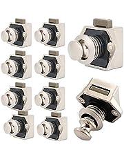 Push Button Catch Deurslot Meubelslot Lock,Keyless-kast Pull Lock voor RV-ladenkast campers, jachten, camping caravan-bote drukknoppen metaal