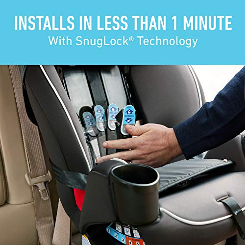 Image of Graco TrioGrow SnugLock LX 3 in 1 Car Seat | Infant to Toddler Car Seat, Sonic