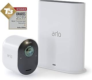 Arlo Ultra 4K - Sistema de seguridad y luz Smart (recargable audio libre de cables con visión diurna/nocturna interior/exterior funciona con Amazon Alexa)