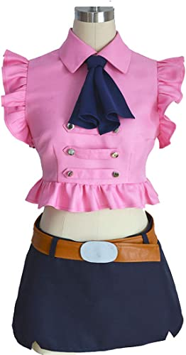 YKJ Anime Costume Quotidien Chemise Rose Jeu Jupe Anime Cosplay Party Costume d'halFaibleeen Terminé,Suit-M