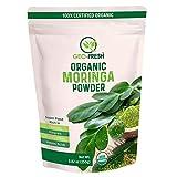 Geo-Fresh Organic Superfood Moringa Powder (Olifera) Leaf Powder Powerful Vitamins & Antioxidants