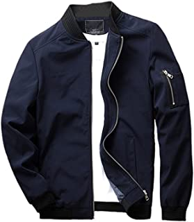 URBANFIND Men's Slim Fit Lightweight Sportswear Jacket Casual Bomber Jacket