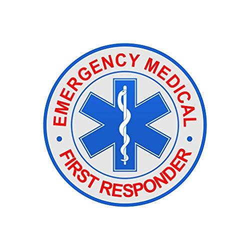 EM FR Emergency Medical First Responder Reflective Decal Car Sticker - Q 03