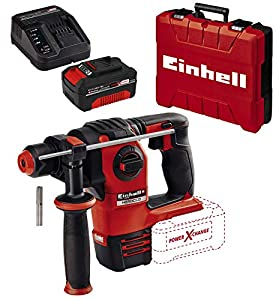 Einhell HEROCCO Martillo perforador inalámbrico + Einhell Kit con Cargador y batería de repuesto de 18 V, 4 Ah
