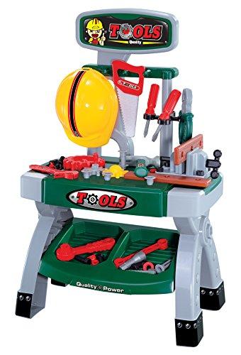 Joueco bn0172472Spiele 701812613150Werkbank Basteln–Multi Tools, grün/rot/grau/gelb/schwarz