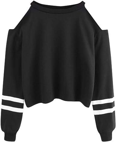 Btruely Herren_camisetas Moda Sudaderas con Capucha, Camisa para Mujer Camiseta Blusa Deportiva Sudadera Fuera del Hombro Tops De Deportivo Basico ...