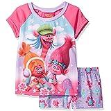 Trolls Girls Shorts Pajamas (Little Kid/Big Kid) (8, Trolls Pink/Purple)