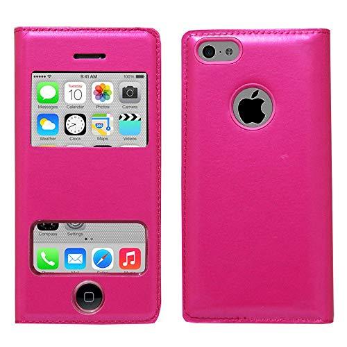 ANNART - Funda con tapa para iPhone 5C, color rosa