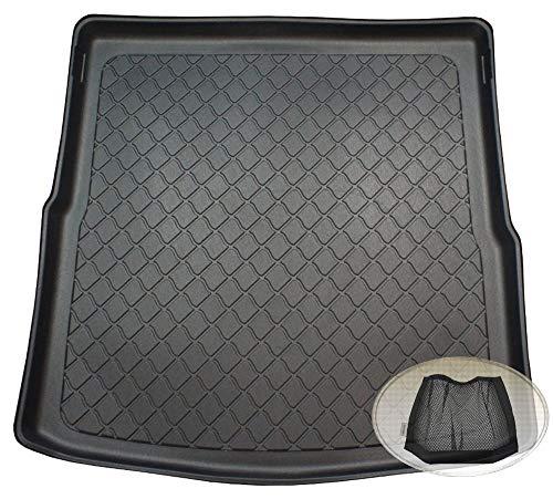 ZentimeX Z3125014 Gummierte Kofferraumwanne fahrzeugspezifisch + Klett-Organizer (Laderaumwanne, Kofferraummatte)
