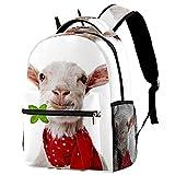 delayer Mochila de viaje unisex Las ovejas llevan una bufanda Mochila para portátil al aire libre de moda mochilas para niños y niñas