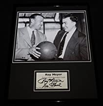 Coach Ray Meyer Signed Framed 11x14 Photo Display DePaul