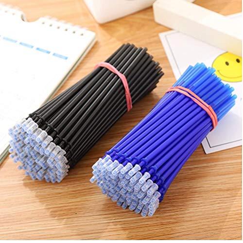 20pcs / Set Black Office Gel Pluma Borra De Recarga Barra De Recarga Magic Borreable Pen Relability 0.5mm Ink School
