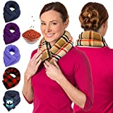 Microwave Heating Pad for Neck & Shoulders - Flax Seed Hot Packs for Pain - Bean Bag Heating Pad Microwavable - Hot Compresses for The Body - Heated Neck Wrap by Sunnybay (London Plaid, Extra Long)