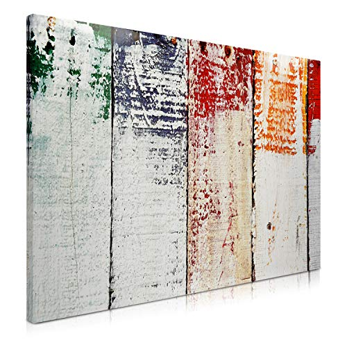 Navaris Memo Board Lavagna Magnetica 90x60cm - Lavagnetta Scrivibile Cancellabile con 1x Pennarello e 5X Calamite - Bacheca Design Legno Dipinto