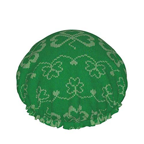 Casquillo de ducha de los huevos de la historieta, casquillo de baño ajustable impermeable de moda de las mujeres de la capa doble de Peva