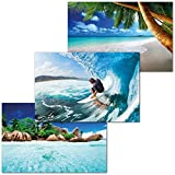 GREAT ART 3er Set XXL Poster Kinder Motive – Water