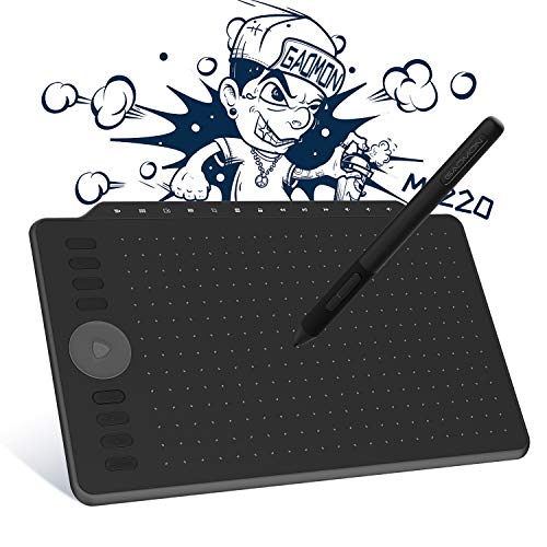 GAOMON M1220 Tablet mit Zeichenstift, 30,5 cm (12 Zoll), mit 13 Multimedia-Tasten und 8 personalisierbaren Schalttasten, kompatibel mit Android & Windows & Mac OS