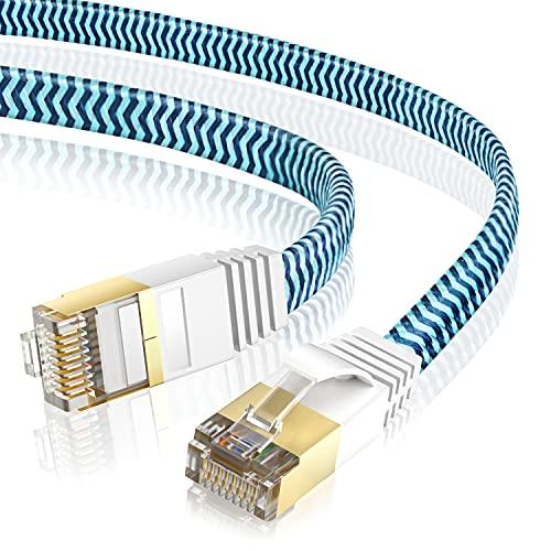 Cables Ethernet 3 metros Cable de Red Cat 7, Cable RJ45 Alta...