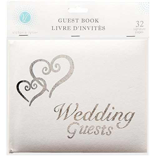 Linked Hearts Wedding Guest Book Silver by Victoria Lynn