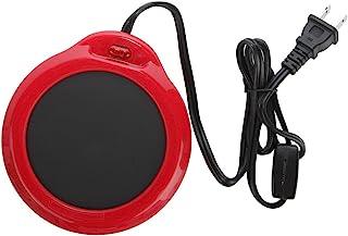 Home-X - Mug Warmer, Multipurpose Heating Pad for Desktop Heated Coffee & Tea or Candle & Wax Warmer, Red Finish