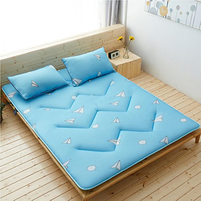 DULPLAY Thickn Breathable Bed Mattress, Cotton Comfortable Foldable Microfibre Non-Slip Bed mattressmattress Pads Predectors Floor mats-D 90x200cm(35x79inch)
