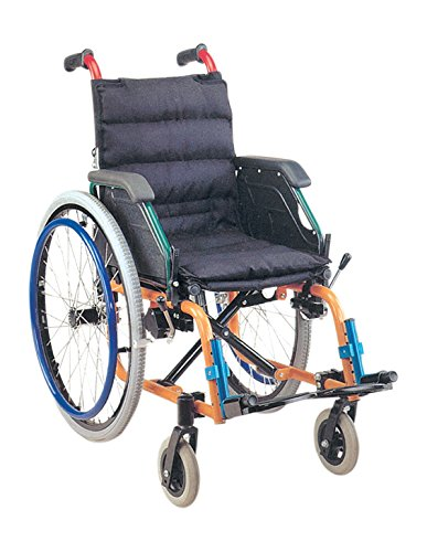 Paediatric wheelchair for children, multi-colour model, 35 cm seat, black tissue