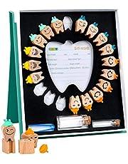 Pudełko na zęby, drewniane pudełko do oszczędzania zębów dziecka z pincetami kolekcja przechowywania chłopiec dziewczyna pamiątka dla niemowląt dziecko dla dzieci pamiątka pudełko z pamiątką prezent