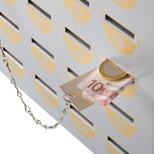 HMF 10500-09 Geldschieber für HMF Sparschrank 25-98 Sparfächer, silber