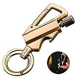 Bollaer, portachiavi e apribottiglie, in metallo, ideale come regalo per attività all'aperto, Oro