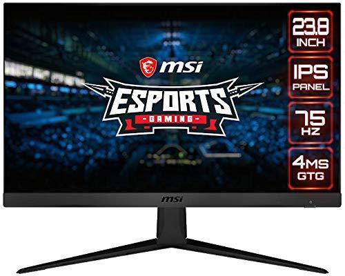 MSI Optix G241V - Monitor Gaming de 23.8' FullHD 75Hz (1920 x 1080p, Panel IPS, ratio 16:9, brillo 250nits,4 ms de respuesta, AMD FreeSync) Negro