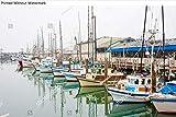 KwikMedia Poster of Fishing Boats at Fisherman's Wharf in San Francisco