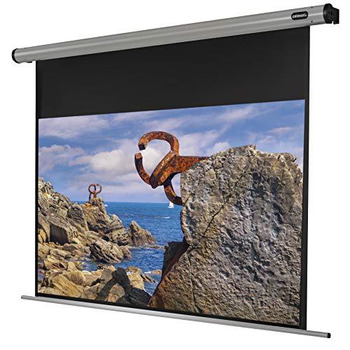 celexon Pantalla motorizada para Cine en casa y presentaciones Montaje de Pared o de Techo HomeCinema - 180 x 102 cm - 16:9
