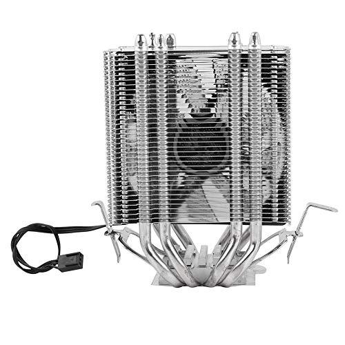 Exliy CPU Ventilador radiador 4 Tubo de Calor CPU Ventilador radiador CPU Ventilador radiador Enfriador CPU disipador de Calor para Intel