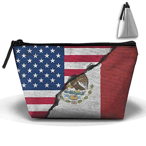 EE. UU. Bandera de México Grieta Bolsa trapezoidal a prueba de agua...