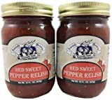 Amish Wedding Red Sweet Pepper Relish 15 Ounces (Pack of 2)...
