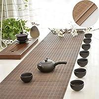 テーブルランナー ヴィンテージテーブルランナー、茶色の竹ランチョンマット耐熱防水、ホームオフィスホテルのキッチンの装飾、30 Cm幅 (Size : 30×280cm)