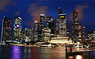 singapore_skyline-wide wallpaper wall stickers wall murals quote printing art vinyl decal sticker