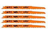 HORUSDY 9-Inch Wood Pruning Reciprocating Saw Blades, 5TPI Saw Blades - 5 Pack
