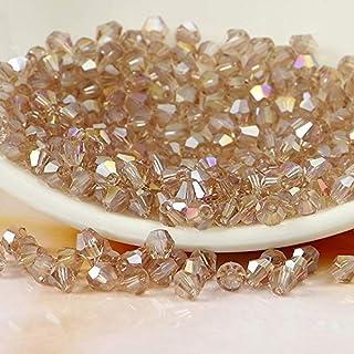 Calvas K9 Crystal 5301# Grade AAAA Silver Shadow AB Color 3mm 4mm 5mm 6mm 8mm Crystal Bicone Beads - (Item Diameter: 3mm 720pcs)