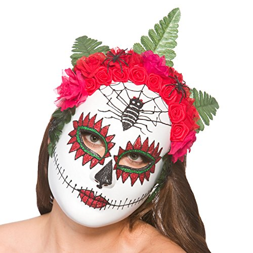 Day of the Dead Mask w/ Flowers