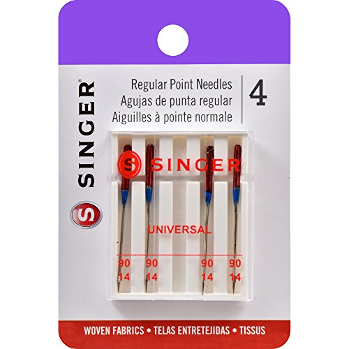 SINGER 4723 Universal Regular Point Sewing Machine Needles, Size 90/14, 4-Count