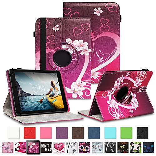 NAUC Tablet Hülle kompatibel für Medion Lifetab E10430 E10604 E10412 E10511 E10513 E10501 Tasche Schutztasche Cover Schutz Hülle 360° Drehbar Etui hochwertiges Kunst-Leder, Farben:Motiv 5