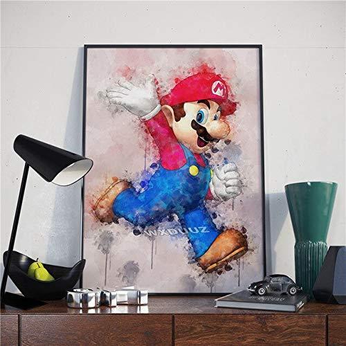shuimanjinshan Super Mario Nintendo Games The Legend of Zelda Decoración para El Hogar Decoración Artística Calidad HD Nursery Kids Room Póster Lienzo Pintura 50X70Cm No Frame Poster O-753