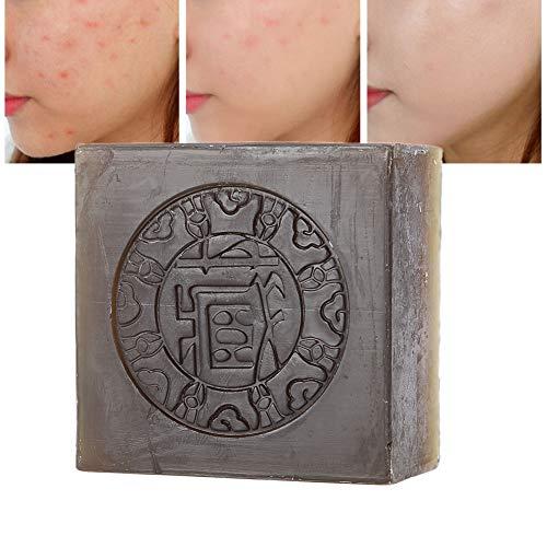 100g de savon à la main au safran Élimination des acariens Traitement de l'acné Corps Savon nettoyant pour le visage pour tous les types de peau