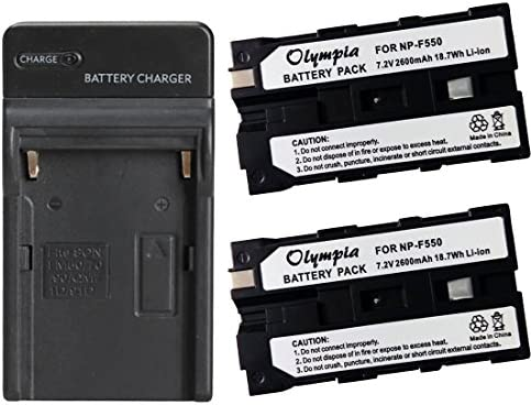 Replacement Battery 2 Pack Charger Set for Sony CCD TRV43 Digital Camera 2600mAh 7 2V Li Ion product image